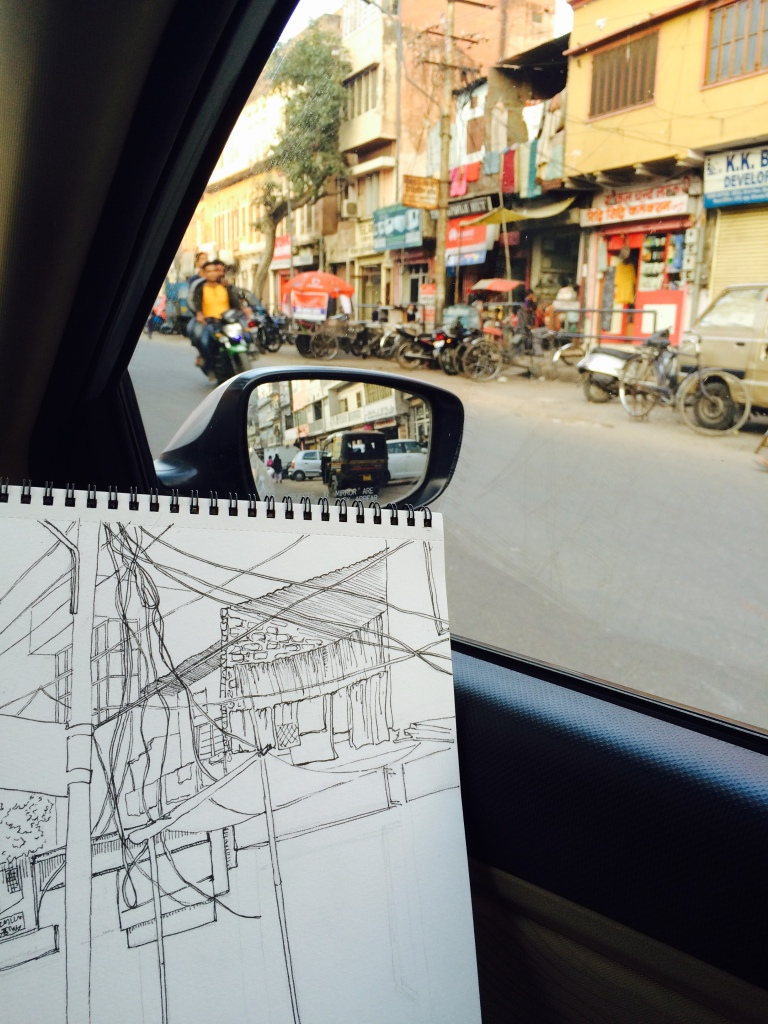 Sketching on Location, Moti Doongri Road, Jaipur.