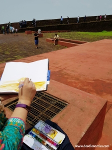 Sketching at Fort Aguada