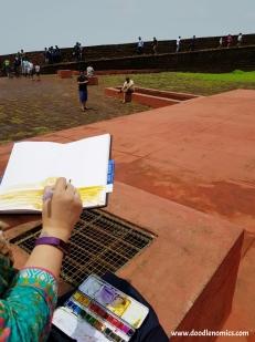 Sketching at Fort Aguada