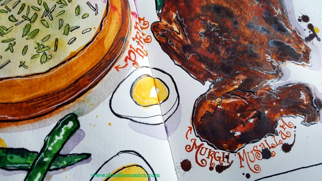 murgh musallam - eggs shot